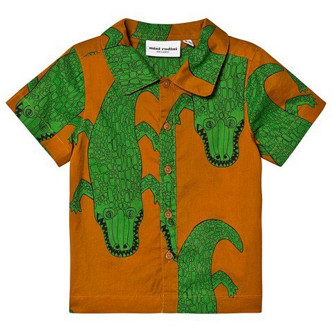 Mini Rodini Brown Crocco Shirt