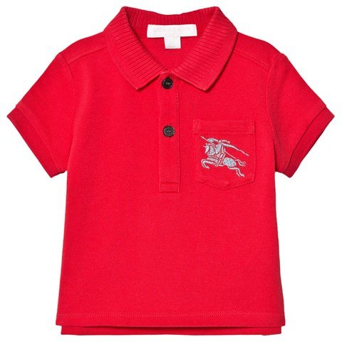 Burberry Red Mini Grant Branded Polo