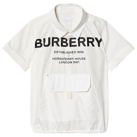 Burberry White Theodore Branded Shirt