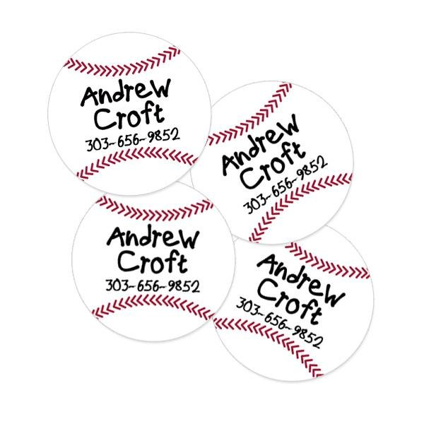 Image of Baseball Round Contact Labels