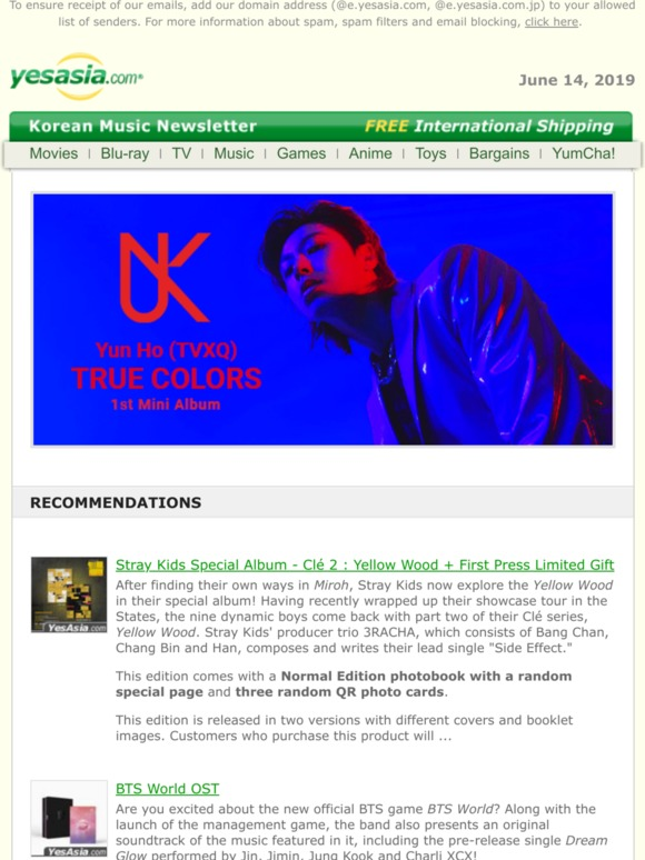 Yesasia: New Korean Music at YesAsia | Milled