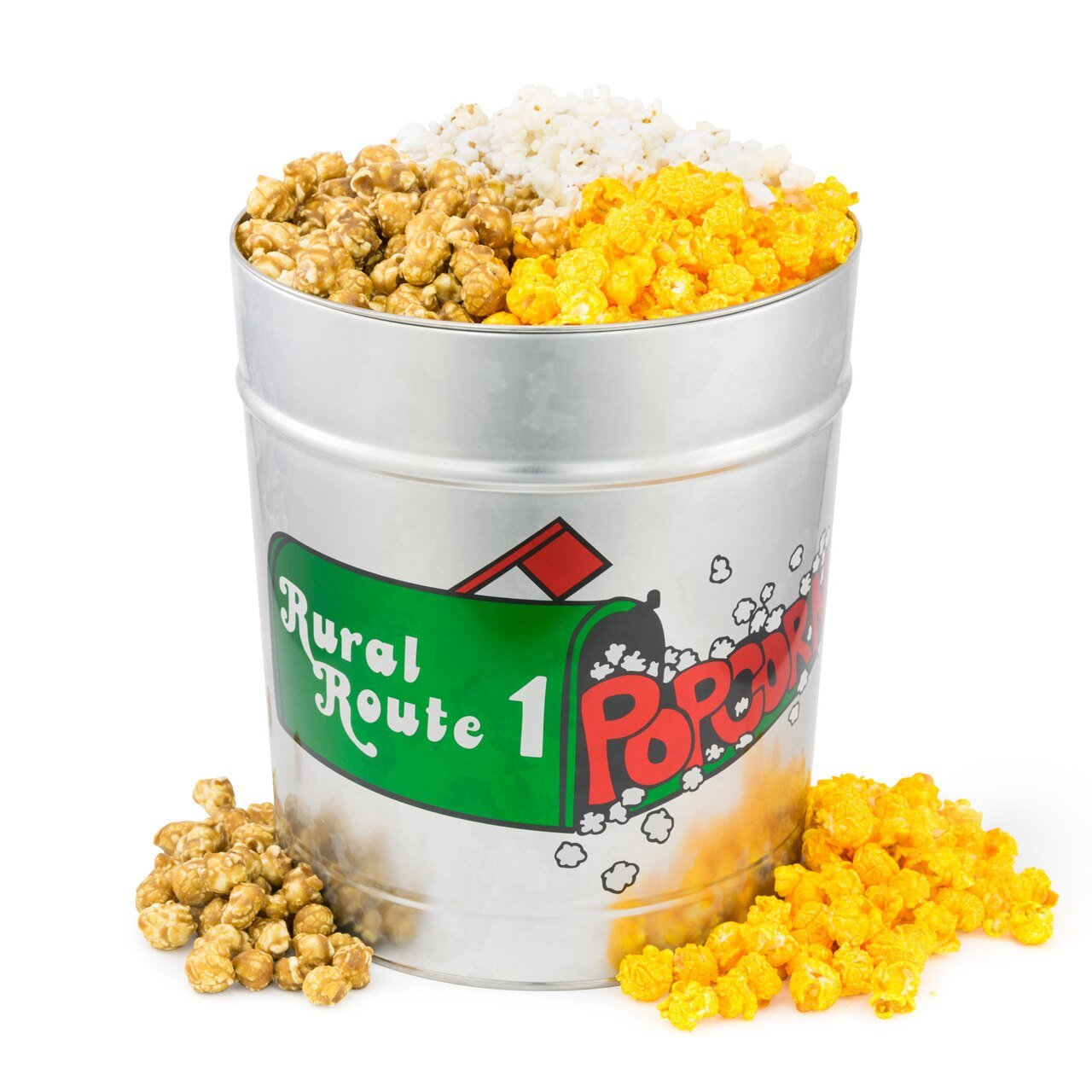 Rural Route 1 Popcorn Combo - 3 Gallon Tin available on WisconsinMade Artisan Collective