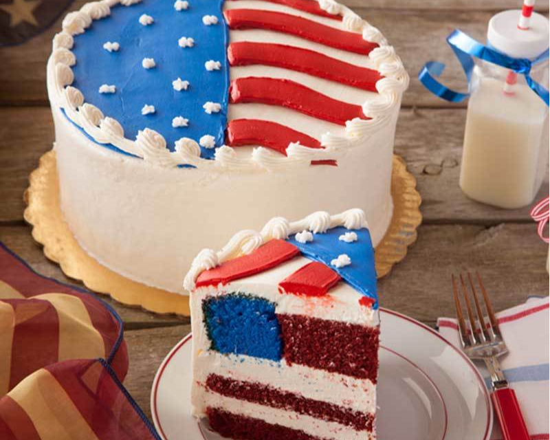 Flag Layer Cake available on WisconsinMade Artisan Collective