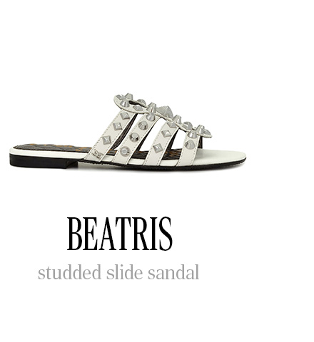 BEATRIS studded slide sandal