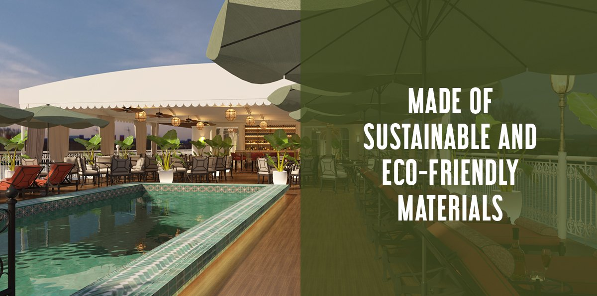 Made of sustainable and eco-friendly materials