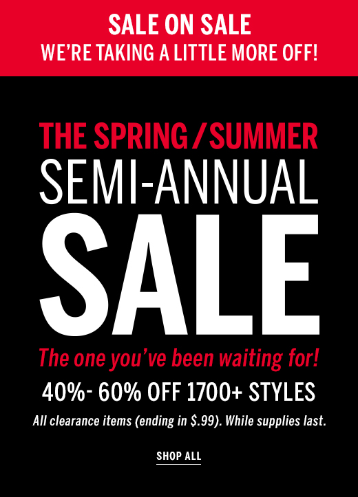 Semi annual and shop now