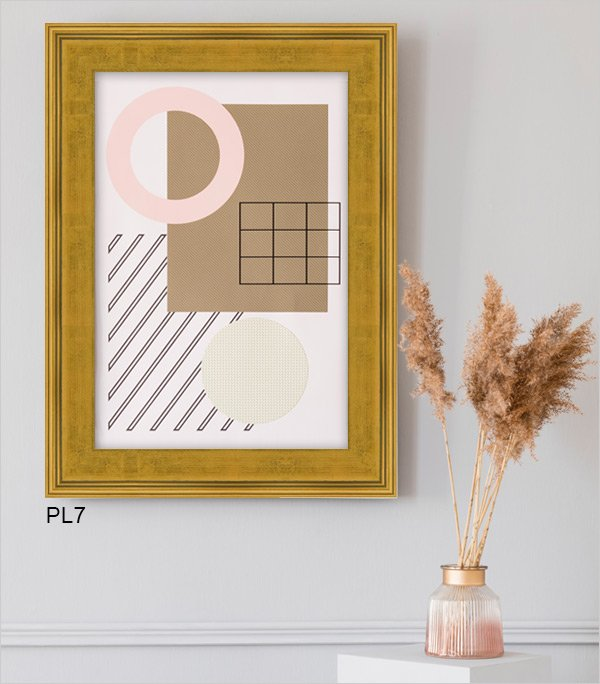 Minimalistic art framed in gold Plein Air PL7.