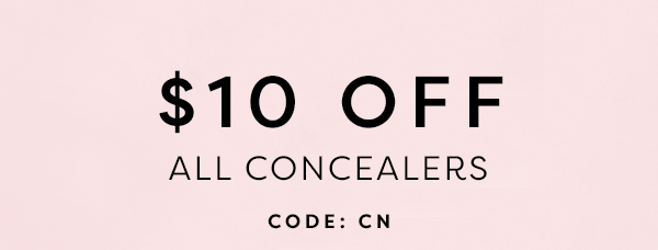 Use Code: CN - $10 OFF All Concealers