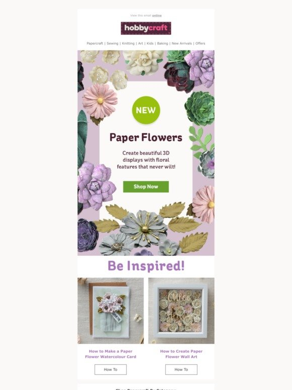 Hobbycraft Add A Little Floral Flair With New Paper Flowers Milled