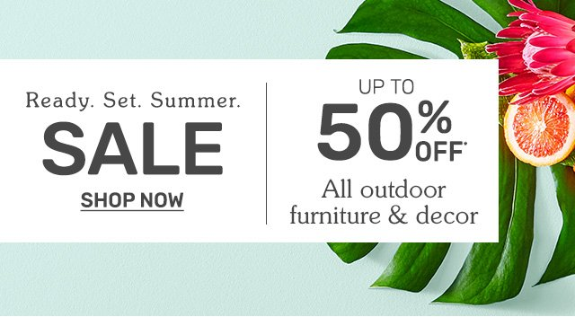 Ready. Set. Summer. SALE. Shop now.