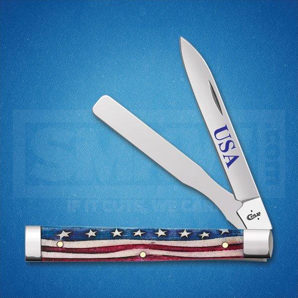 CASE STAR SPANGLED DOCTORS KNIFE TRU-SHARP SURGICAL STEEL BLADE
