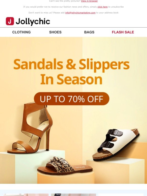Sandals \u0026 Slippers! Up To 70% Off