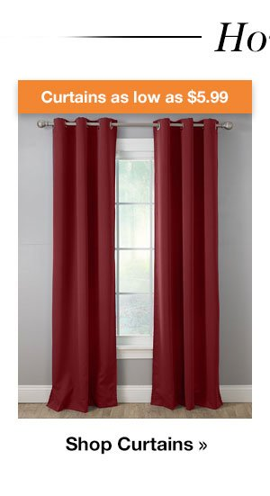Shop Curtains as low as $5.99!