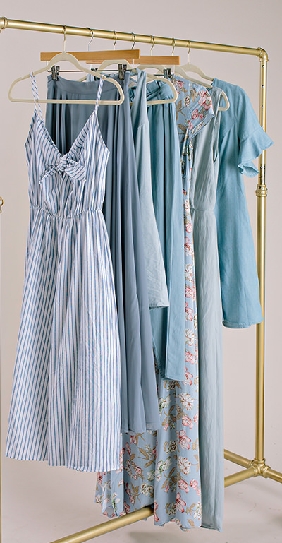 Cute Blue Jumpsuits, Skirts, and More!