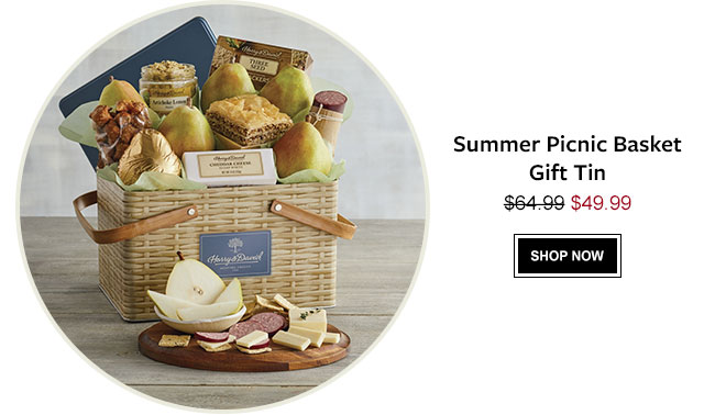 Summer Picnic Basket Gift Tin