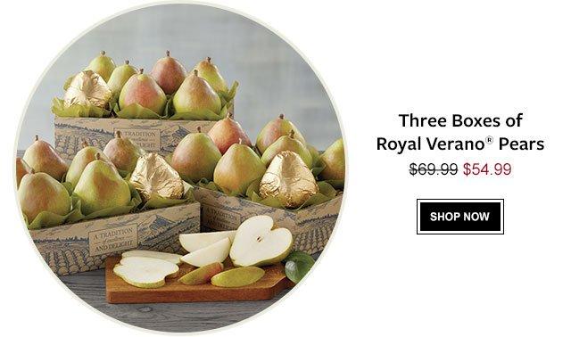 Three Boxes of Royal Verano® Pears