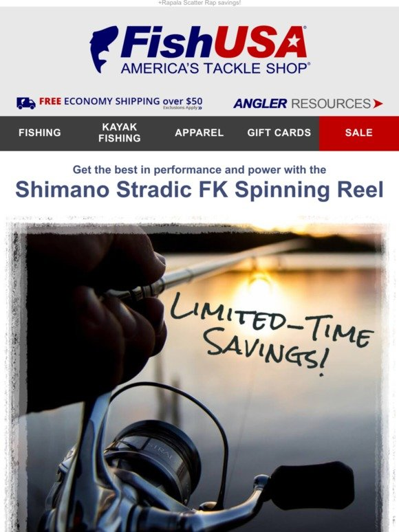 ca419371e9a FishUSA.com: Price Drop on Shimano Stradic FK Spinning Reels | Milled