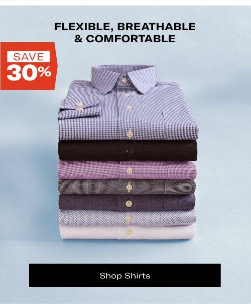 Save 30% on Shirts