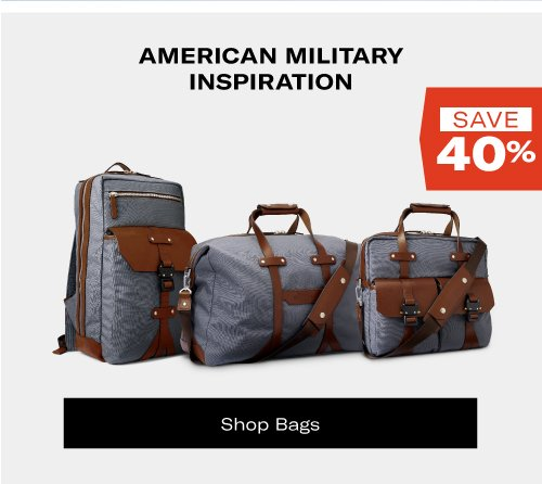 Save Up To 40% on Bags