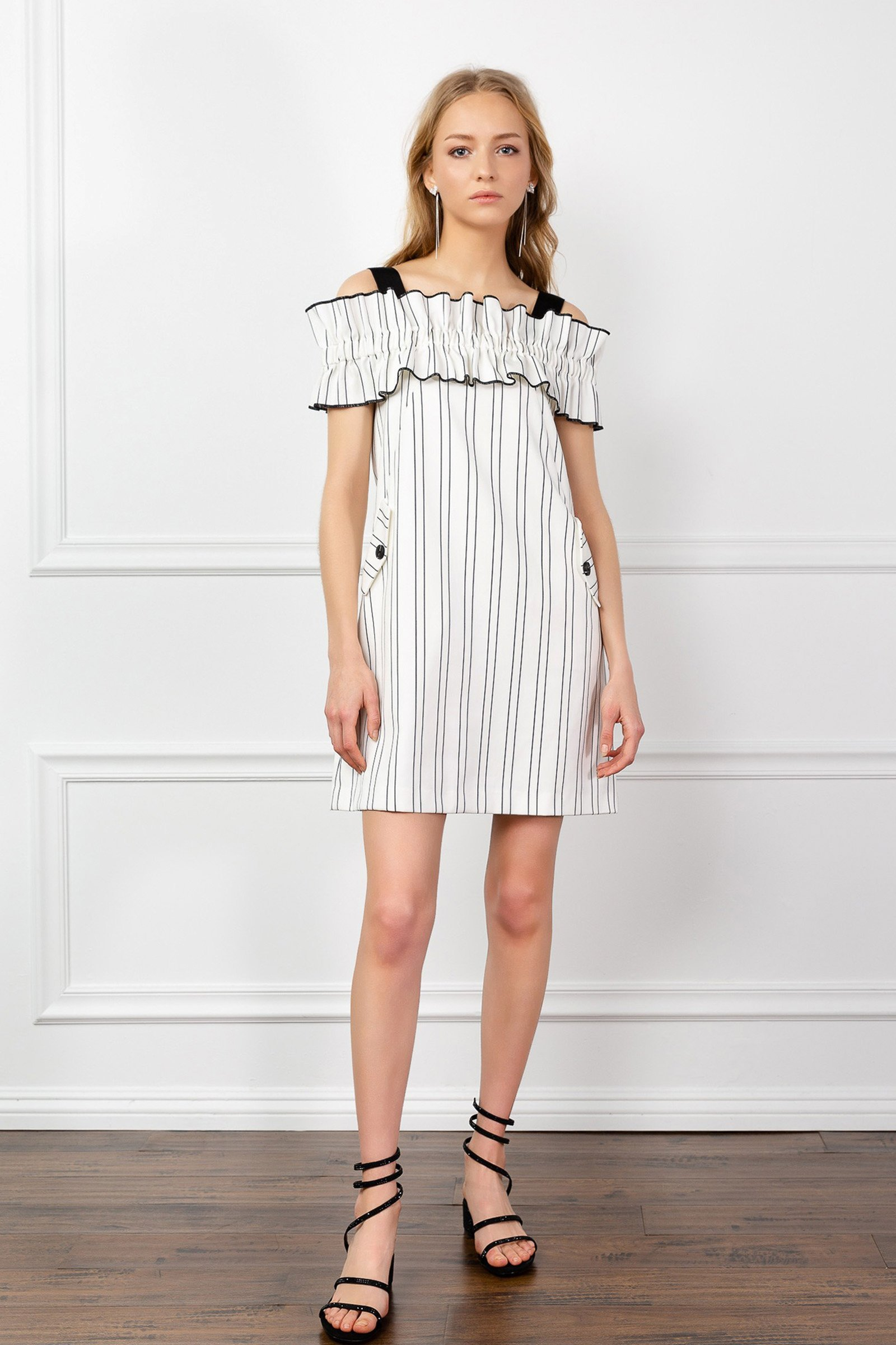 Image of RUFFLED RENATA DRESS