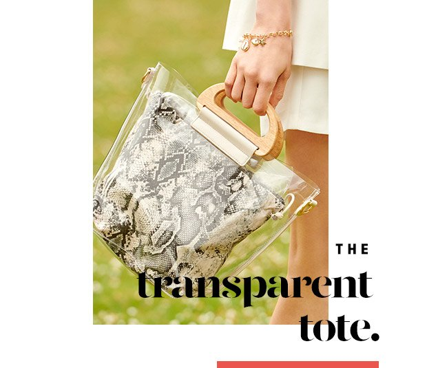 THE TRANSPARENT TOTE