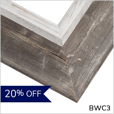 Driftwood Gray and Whitewash Frame - BWC3