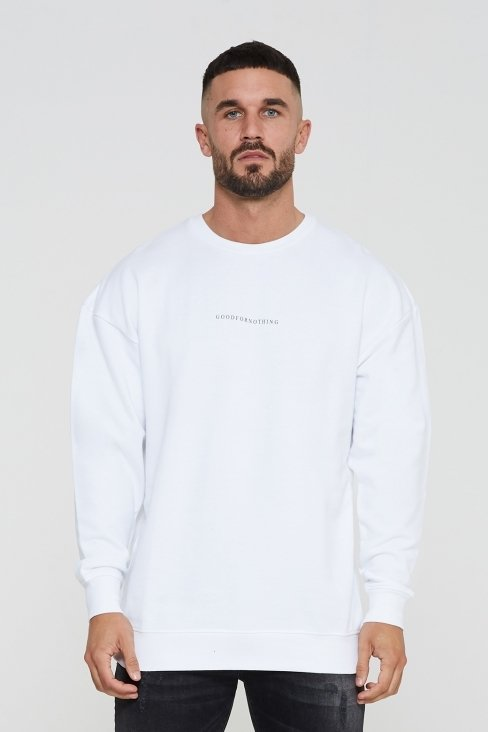 Essential Oversized White Sweatshirt