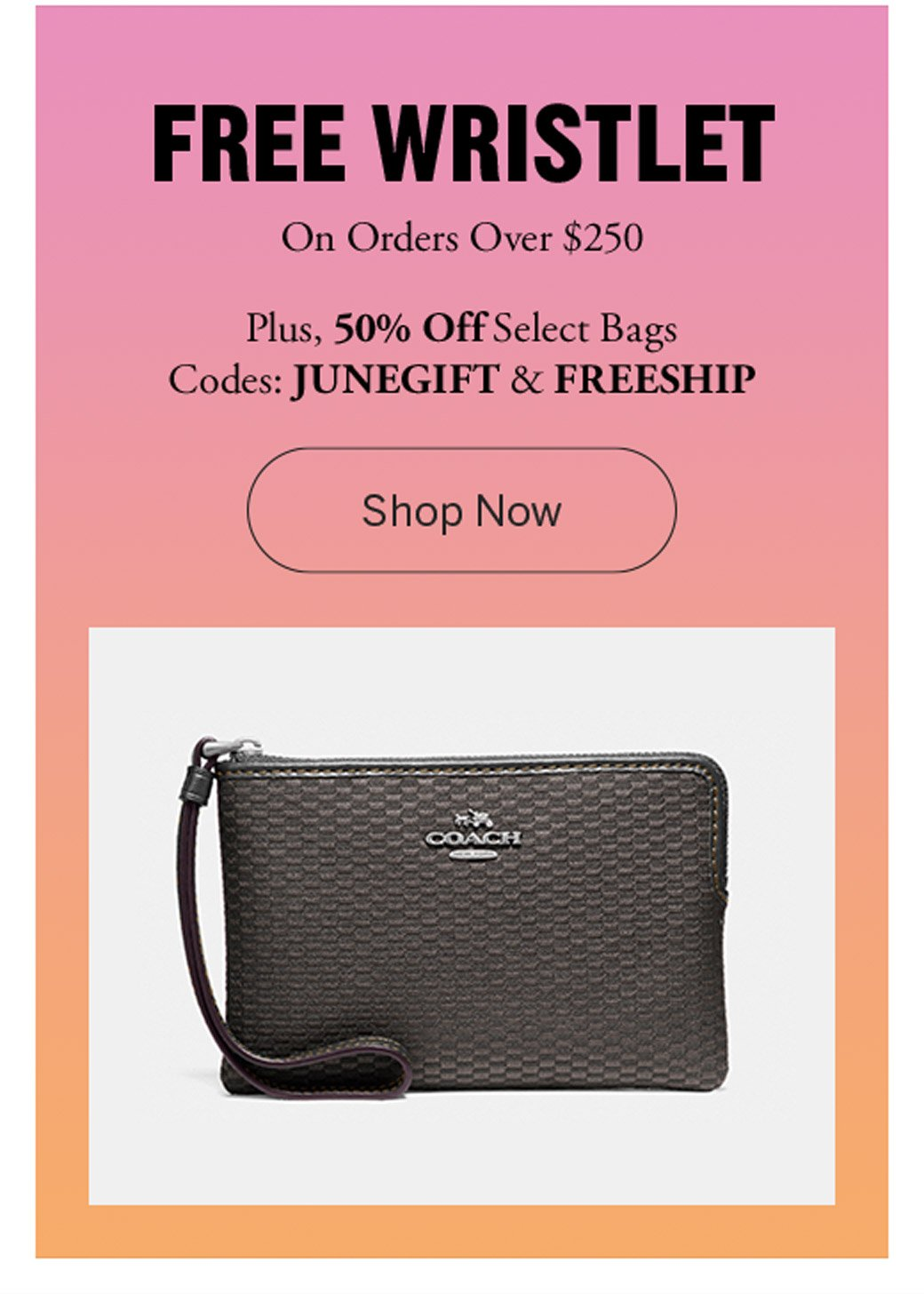 76d519e512 AnyCoupons: 🎁 COACH: Free Gift ($65 Value) + 50% Off Select Bags + ...