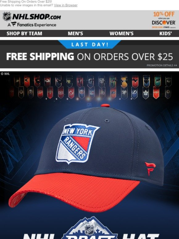 new product f1921 7c5ae NHL.com  JUST RELEASED  2019 Rangers Draft Hat!   Milled