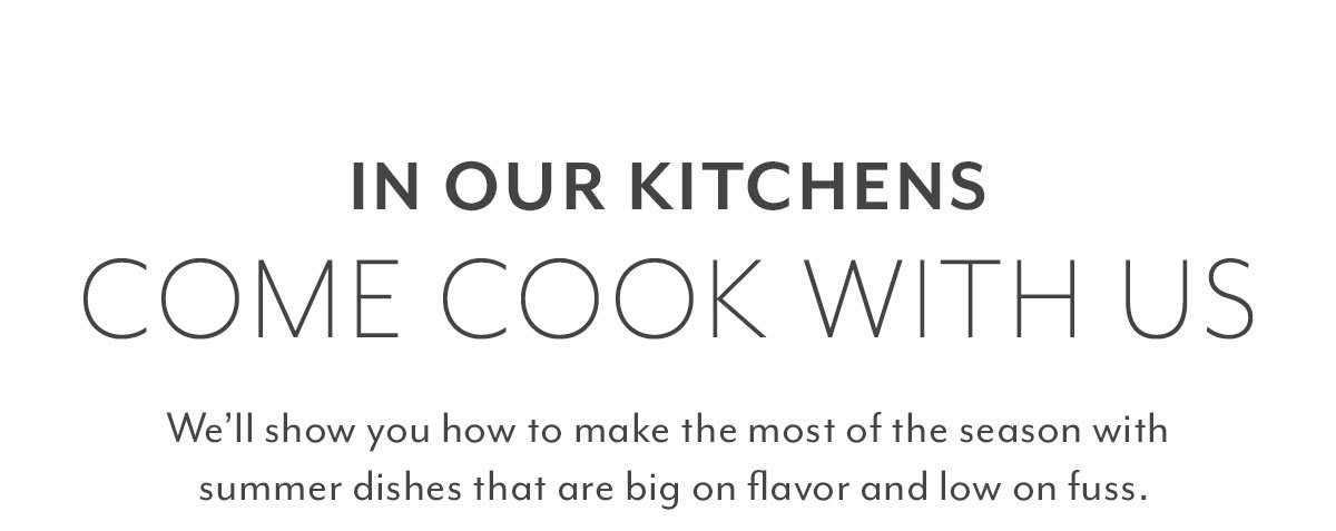 In Our Kitchens • Come Cook with Us