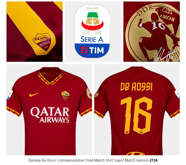 SubsideSports.com: Daniele De Rossi - Roma Final Match Shirt ...