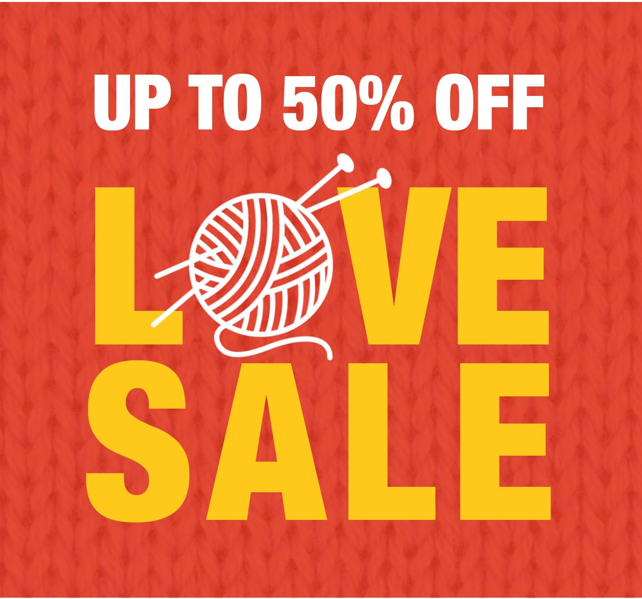 50% Off Love Sale