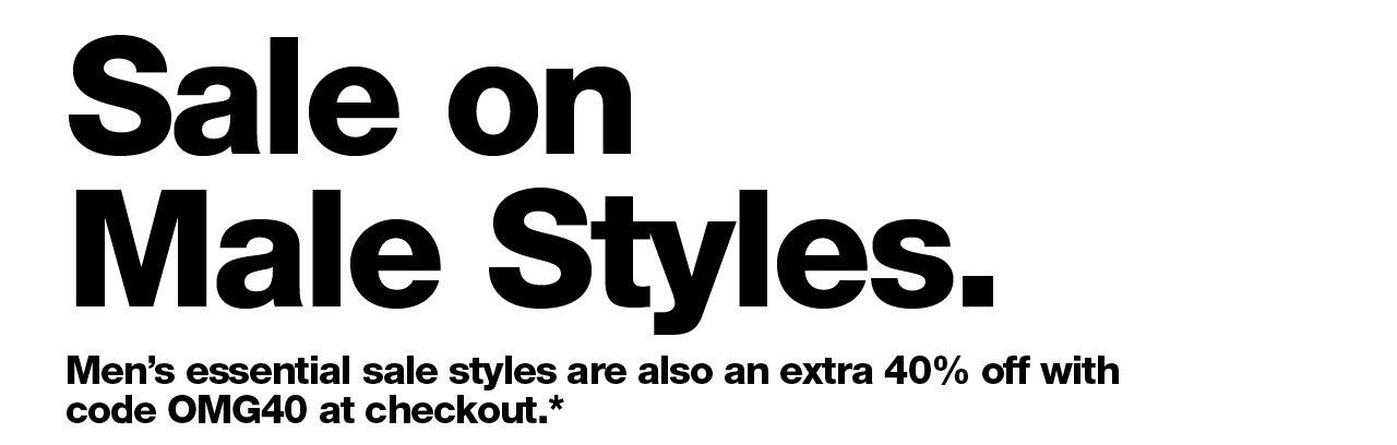 Sale on Male Styles