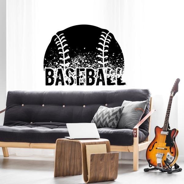 Image of Baseball Wall Decal