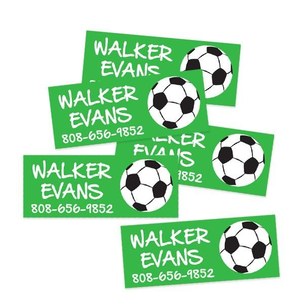 Image of Soccer Rectangle Contact Labels