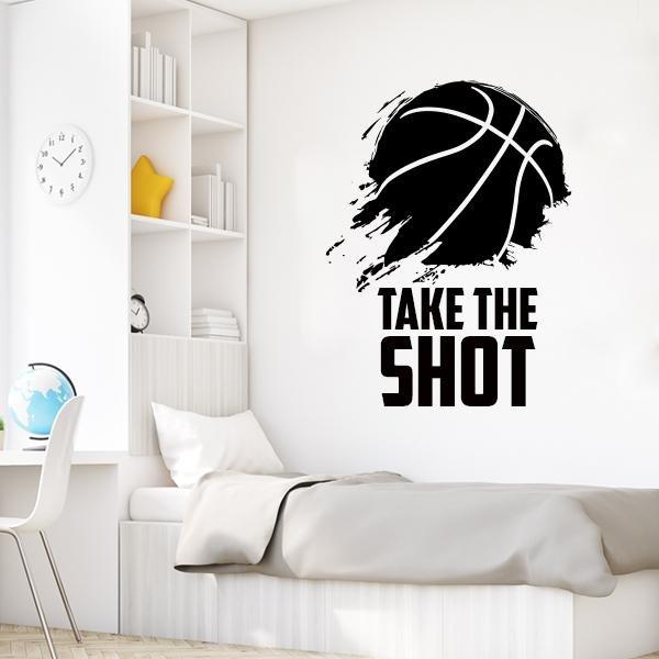Image of Take the Shot Basketball Wall Decal