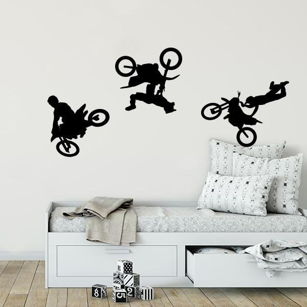 Image of Motor Cross Wall Decals