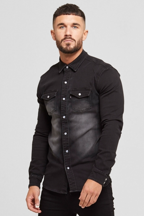 Denim Washed Black Shirt
