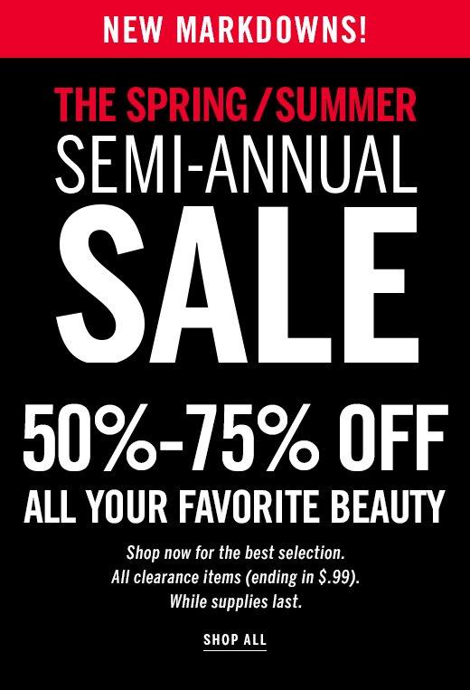 Beauty Semi-Annual Sale
