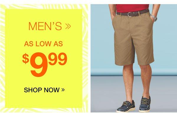 Men's Shorts As Low As $9.99
