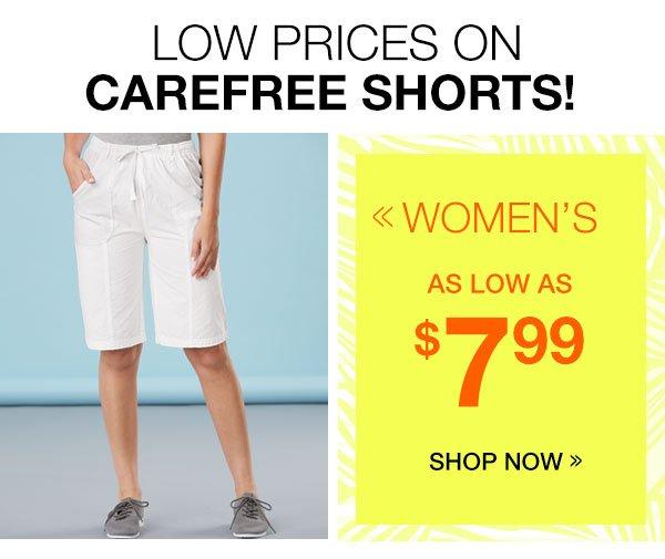 Women's Shorts As Low As $7.99