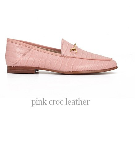 pink croc leather