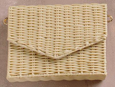 Eliza Straw Envelope Crossbody Bag