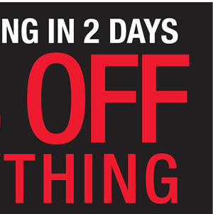 STORE CLOSING IN 2 DAYS. 75% OFF EVERYTHING