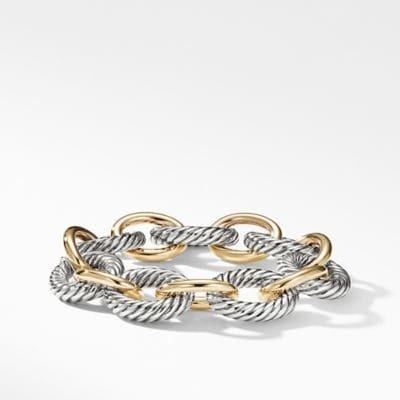 Extra-Large Oval Link Bracelet with 18K Gold