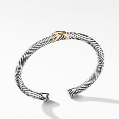 X Bracelet with 14K Gold