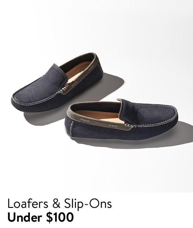 Men's loafers and slip-ons under $100.