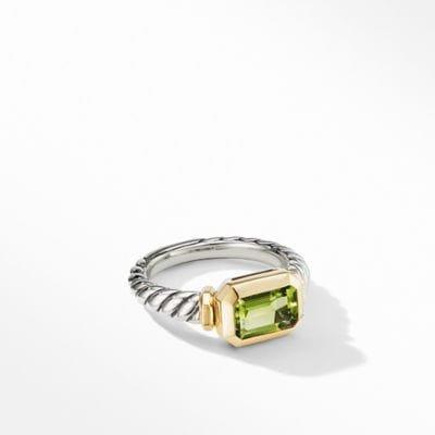 Novella Ring with Peridot and 18K Yellow Gold