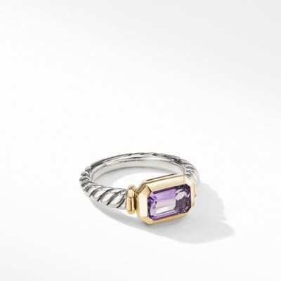 Novella Ring with Amethyst and 18K Yellow Gold