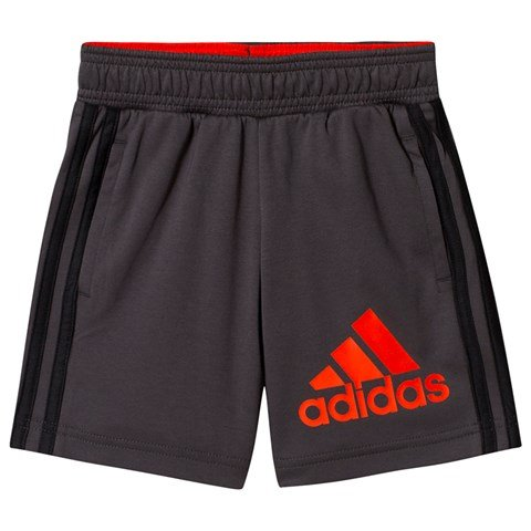 adidas Performance Charcoal and Red Shorts